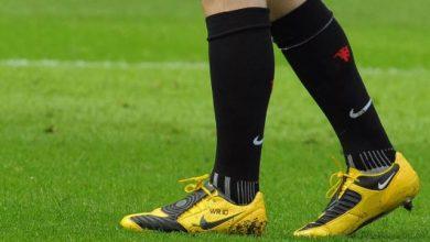 نمشي احذية كرة القدم